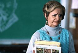 School of hard knocks: Amy Sedaris plays 46-year-old high-school freshman Jerri Blank in Strangers With Candy.
