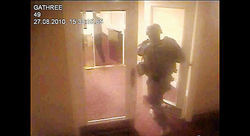 Video footage of Barrett around the hotel he supposedly planned to ambush.