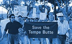 Activists take to Mill Avenue to protest Tempe Butte development