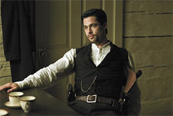 A dirty Western with clean shirts: Brad Pitt as the infamous Jesse James.