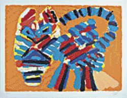 Sunshine Cat by Karel Appel