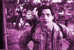 Which is the monkey, which is the organ grinder? Brendan Fraser and pal in Monkeybone.