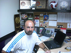 Petar Draksin, men's soccer coach at Grand Canyon State University and director of soccer operations for club CISCO.
