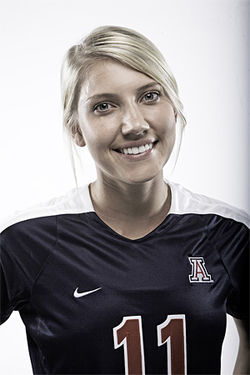 Brittany Cole, a scholarship athlete for the University of Arizona, al