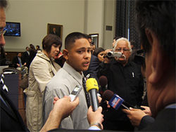 Avondale resident Julio Mora on Capitol Hill