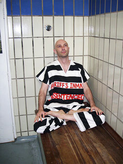 Shaun Attwood, a.k.a. &quot;English Shaun,&quot; in a publicity still for his new book on Arpaio&#039;s jails.