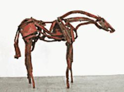 Rosa, found steel, by Deborah Butterfield, 2005