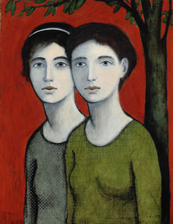 Sisters by Brian Kershisnik
