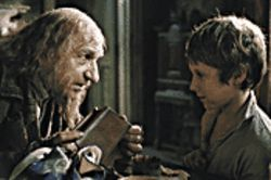 Little Dickens: Barney Clark (right, with Ben Kingsley) is cute, if not totally convincing, as Oliver Twist.
