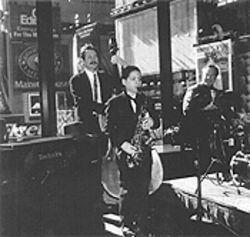 Han -- seen here performing in Times Square -- has  caused a minor sensation in New York jazz circles.