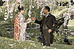 Escort service: Ziyi Zhang is the geisha, and Ken Watanabe her suitor, in Memoirs of a Geisha.