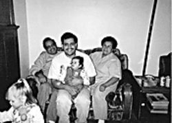 Cervantes with his parents and son, circa 1999.