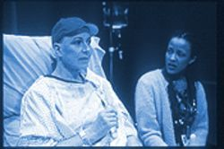 Karen Grassle (left), with Lizzy Davis as a nurse, delivers a magnificent performance as Vivian Bearing in Wit.
