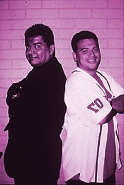 George Lopez (left) and Carlos Mencia.