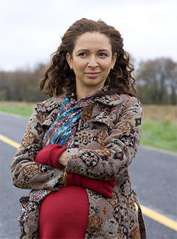 With glorious bastard: Maya Rudolph doesn't want to get married, but doesn't know what she does want, in Away We Go.