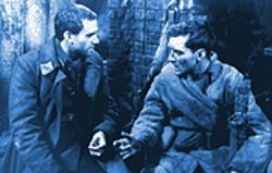 Joseph Fiennes (left) and Jude Law in Enemy at the Gates.
