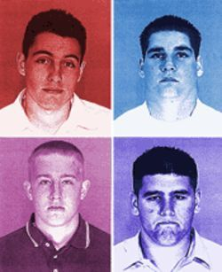 Clockwise from left, Devil Dogs Kevin Papa, Kenneth Couturier, Barry Nutter and Michael Spears.