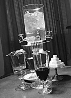 The romance of ritual: Cold water dripped slowly over sugar cubes into absinthe makes connoisseurs coo.