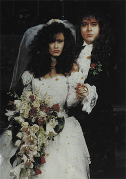 The unhappy couple, Amber Landin and Swedish guitar legend Yngwie Malmsteen, at their wedding on December 26, 1993.