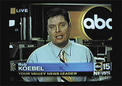 Disgraced former TV reporter Rob Koebel was a key witness in Dan Sabans recent trial.