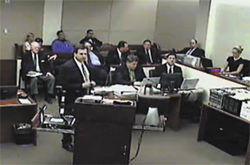 "Saban's attorney, Joel Robbins (above center), referring to Arpaio and company, argued that ""powerful, evil people do powerful, evil things."""