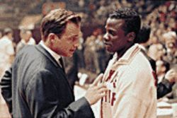 Miner miracle: Josh Lucas (with Derek Luke) stars as the coach who integrated college basketball in Glory Road.