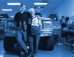 Alma and Patrick Gates, a mother-son team, building the world's loudest car stereo.