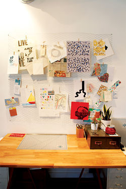 Seesaw's inspiration wall