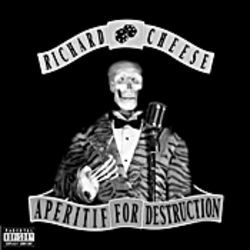 "The latest album cover: ""If anyone wants to take over as Richard Cheese, we can give 'em the tux,"" Davis says."