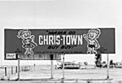 "An early billboard for Phoenix's first ""air conditioned  mall,"" Chris-Town, touted the values of nagging."