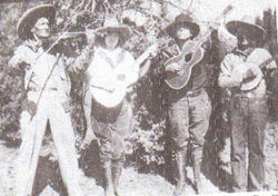Billie Maxwell (second from left) and her family's band.