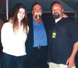 Graham and his children, Capella and Joey, at Wrestlemania 21 in Los Angeles in 2005. His daughter has a good relationship with Graham, but his son since has shunned him.