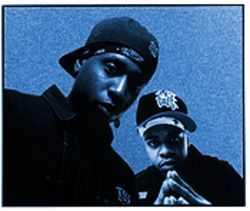 Talib Kweli (left) and DJ Hi-Tek move somethin' on their latest album, Reflection Eternal.