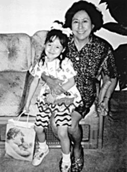 Mauricia Aviles and her niece Alexia, about a year before 