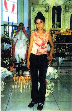 Josseline Hernandez, 14, in a photo that adorns the prayer card given out by No More Deaths.