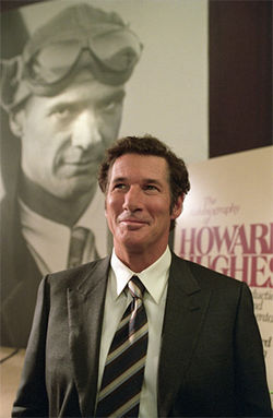 Faking it: Richard Gere as another morally ambivalent character, writer Clifford Irving.