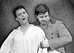 Dion Johnson and Christopher Mascarelli provide the only acting in The Elephant Man.