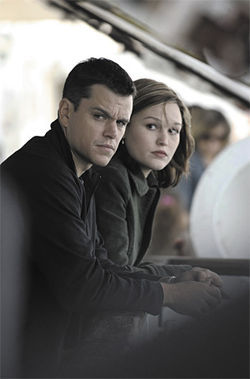 Forget-me-not: Matt Damon and Julia Stiles take a breather in The Bourne Ultimatum.