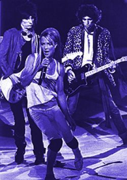 Paint it bleak: The Stones prove teen is not on their side. Keith and Ron watch as Spears goes by.