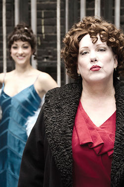 Kathy Fitzgerald (right) as Rose and Jenny Hintze as Gypsy Rose Lee