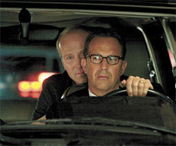 Kevin Costner (front) and William Hurt in Mr. Brooks.