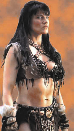 Lawless barbarian: Like her heroine, Xena (played by Lucy Lawless), Laine Lawless sees herself as a fierce warrior who fears no male.