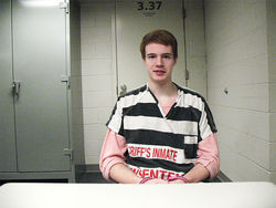 Jonathan Antonucci at a November jail interview.