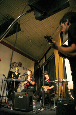 At a recent CD-release show at the Trunk Space, Michelle Blades performed to a packed house.