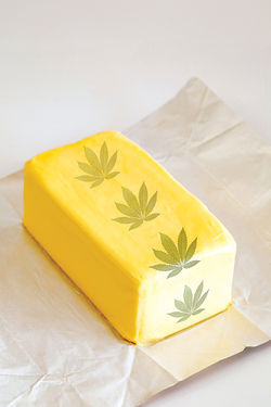 Canna from Heaven?: The better butter may ease some suffering.