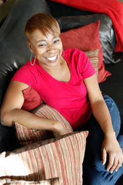 Nakia Walker, DMX&#039;s manager, relaxes in her Phoenix home.