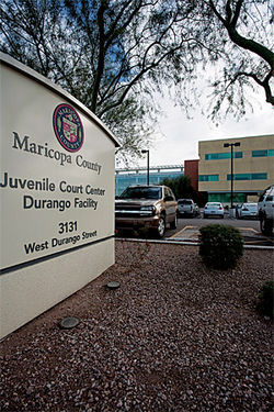 The county's main Juvenile Court is in an out-of-the-way complex in south Phoenix.