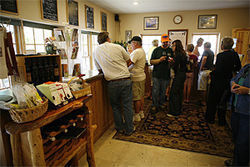 Another busy afternoon at the Page Springs Cellars tasting room.