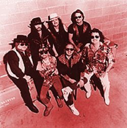 Lynyrd Skynyrd does Christmas: Looks like Santa&#039;s sleigh will be up on blocks in front of the trailer this year.