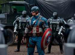 Team USA: Chris Evans fights Nazis in Captain America: The First Avenger.